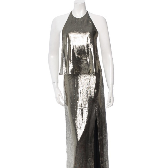 Halston Heritage Dresses & Skirts - Halston Heritage gold metallic evening gown